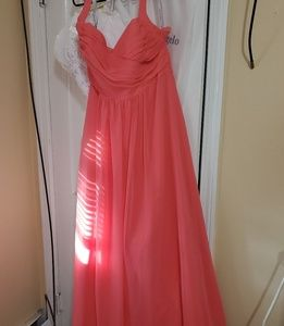 Alfred Angel Coral Bridesmaid Gown